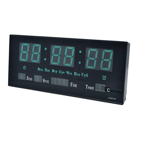 Часы JH-3615 НАСТЕННЫЕ ЭЛЕКТРОННЫЕ ЗЕЛЕНЫЕ