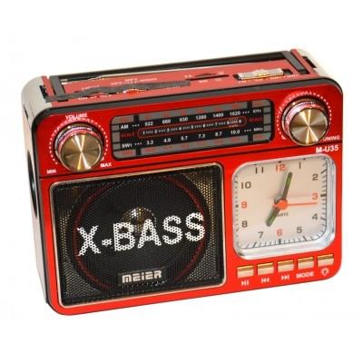 """Радиоприемник MEIER M-U35 КРАСНЫЙ /USB/SD/mSD/ФОНАРЬ"""""""