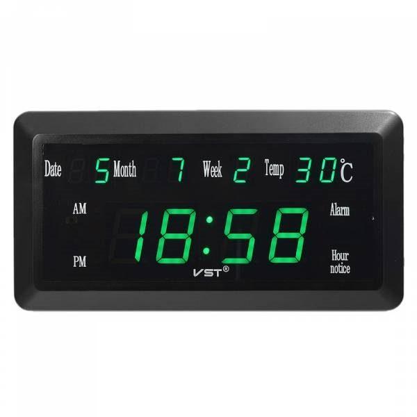 Часы VST780W-4 (дата, температура) НАСТОЛЬНЫЕ ЭЛЕКТРОННЫЕ ЗЕЛЕНЫЕ