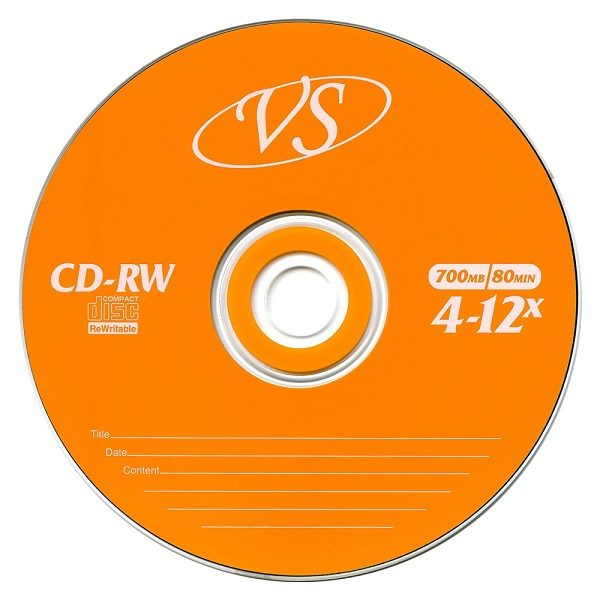 CD-RW 80 12X BRAND (1шт)  в пластиковой банке VS