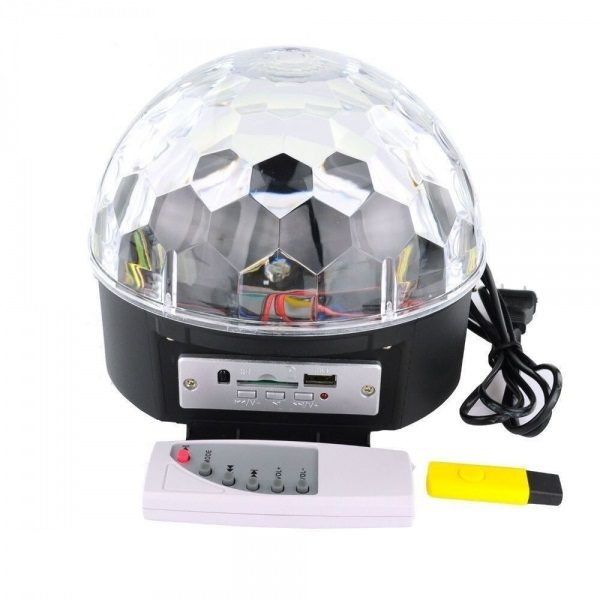 Диско шар MP3 X6 BLUETOOTH (USB, SD, пульт ДУ,2*5 Вт, датчик звука)