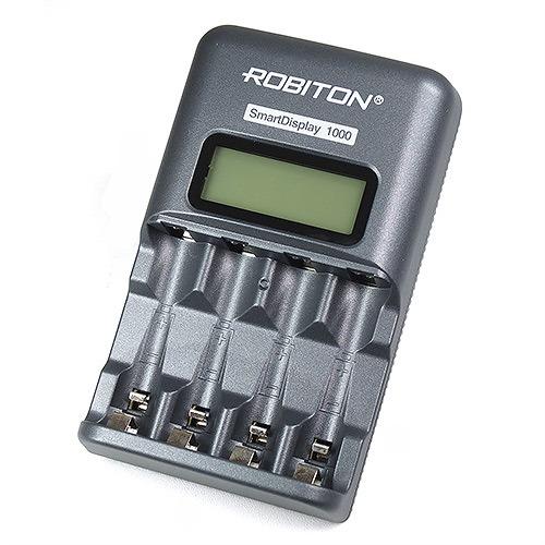 Зарядное устройство SMART DISPLAY 1000 (AA/AAA)  ЖК-Дисплей ROBITON