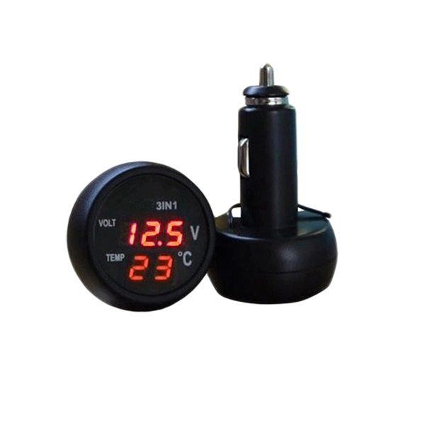 Автомобильные вольтметр VST706-1 (температура)