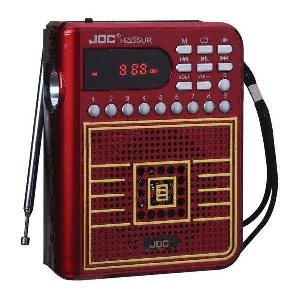 Радиоприемник H222SUR ЧЕРНЫЙ (USB/SD/MicroSD/FM) JOC