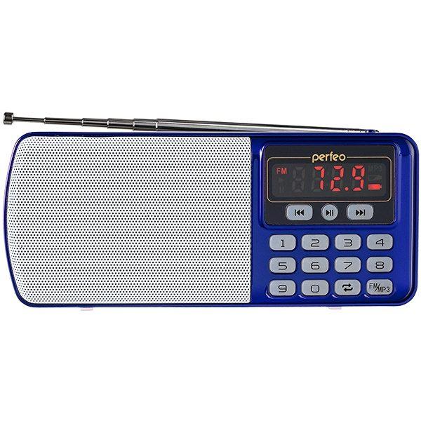 "Радиоприемник i120-BL ""ЕГЕРЬ"" MP3/FM/USB/BL5C СИНИЙ"