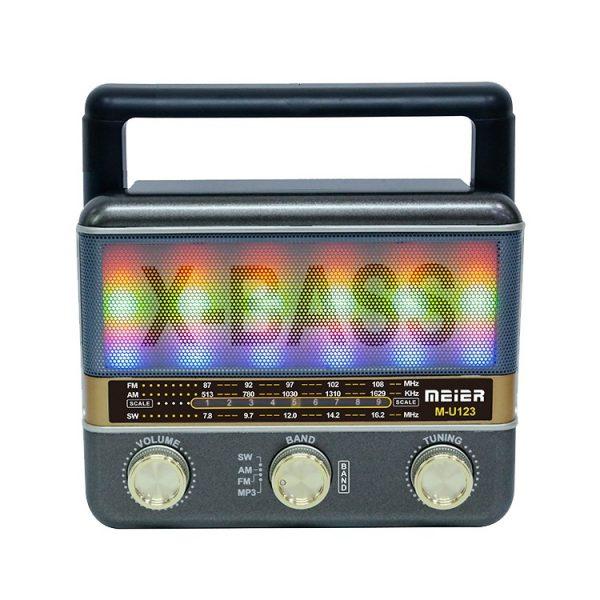 Радиоприемник MEIER M-U123 ЧЕРНЫЙ USB/SD/microSD