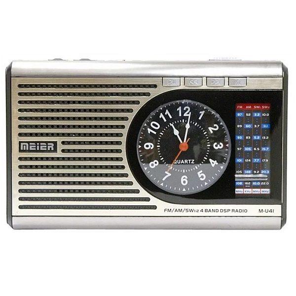 Радиоприемник MEIER M-U41 БЕЛЫЙ /USB/SD/microSD