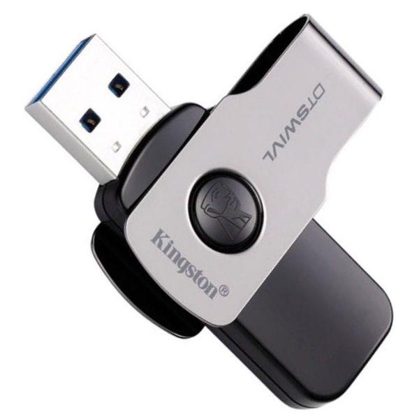 ФЛЭШ-КАРТА KINGSTON  64GB DT SWIVL МЕТАЛЛ USB 3.0