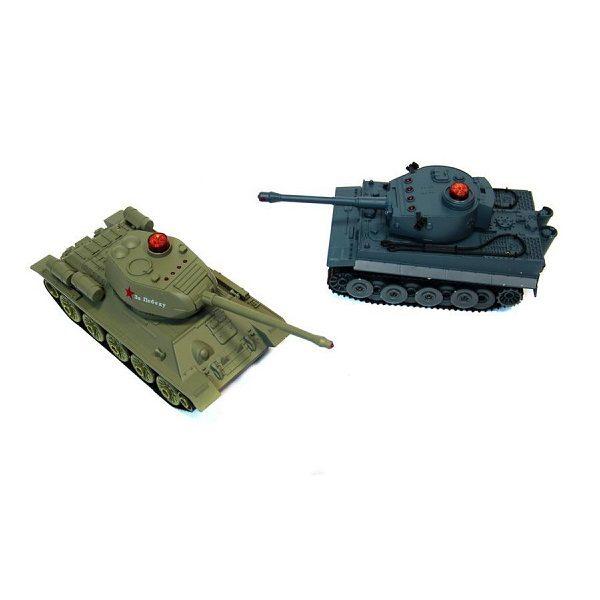 Танковый бой HuanQi Т-34 и Tiger 1 1:28 2.4GHz