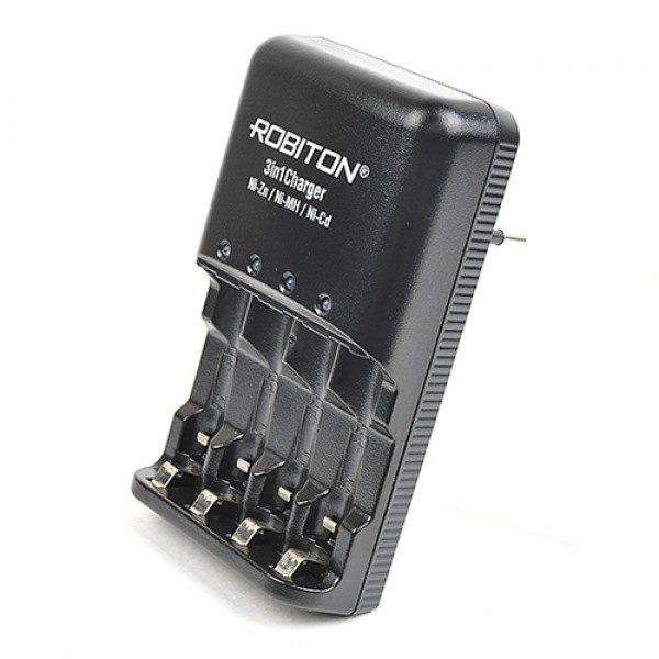 Зарядное устройство 3 В 1 Ni-Zn/Ni-MH/Ni-CD 1-4 AA/AAA   ROBITON