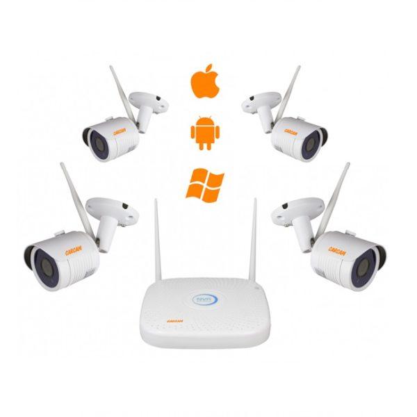 Комплект видеонаблюдения WiFi КАРКАМ КИТ-1080