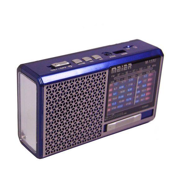 Радиоприемник MEIER M-U133 ЧЕРНЫЙ USB/SD/microSD