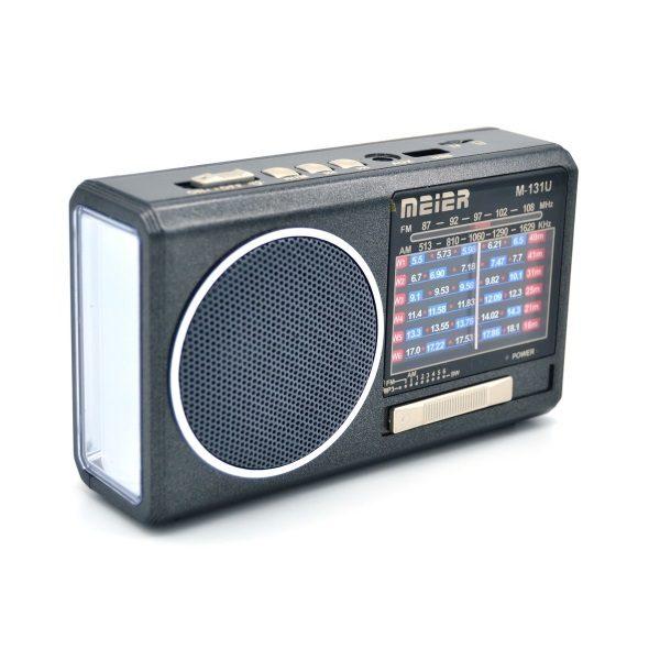 Радиоприемник MEIER M-U131 ЧЕРНЫЙ USB/SD/microSD