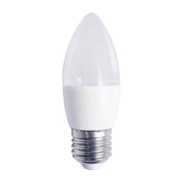 Светодиодная лампа (L123) C37 7.5W 4000K/E27 ( Свеча / Холодный свет ) КОСМОС