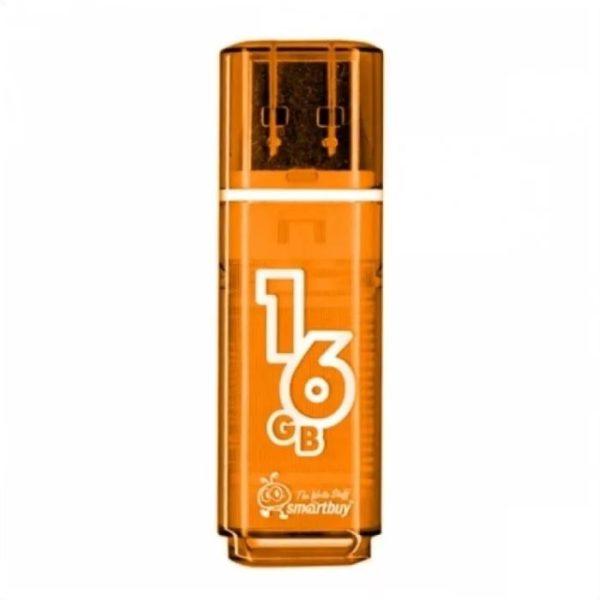 ФЛЭШ-КАРТА SMART BUY 16GB GLOSSY ОРАНЖЕВАЯ ГЛЯНЕЦ USB 2.0