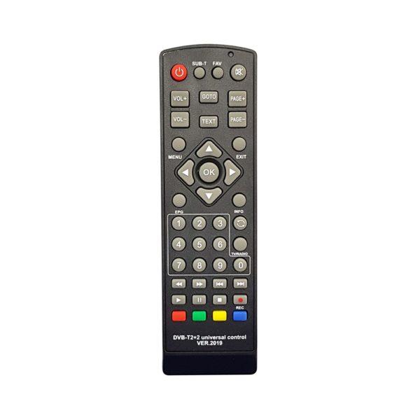 ПДУ Универсальный пульт для приставок DVB-T2+2 (Ver.2019) Huayu