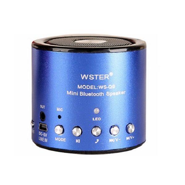 Аудио-система Wster WS-Q9 (USB/microUSB/AUX/Bluetooth) blue