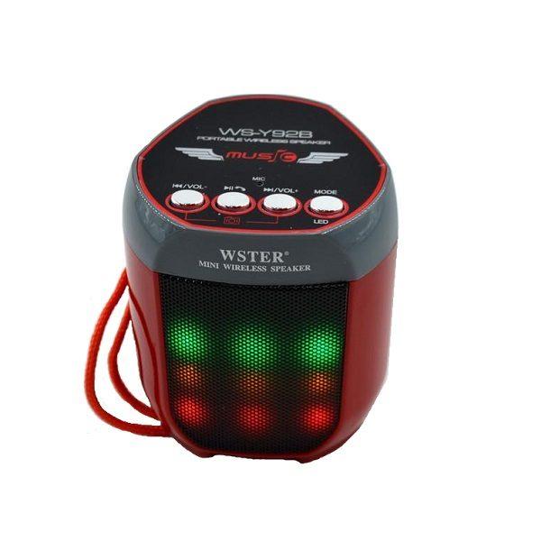 Аудио-система Wster WS-Y92BD (USB/microUSB/AUX/Bluetooth) red