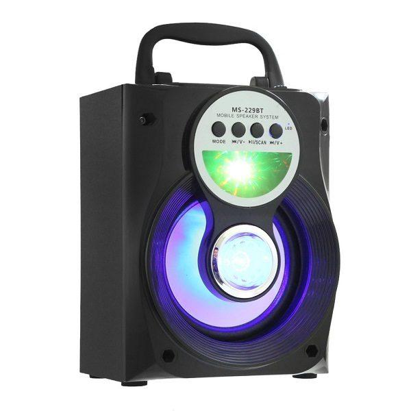 Аудио-система MS-229 BTch BLUETOOTH/USB/mSD/FM/LED ЧЕРНАЯ