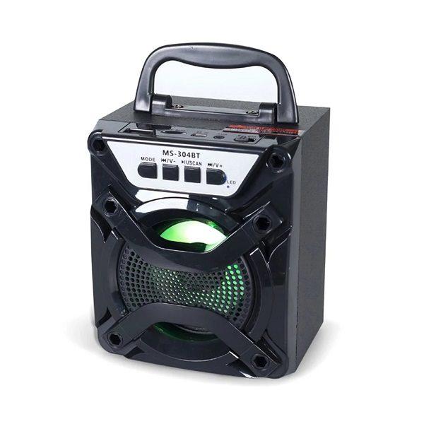 Аудио-система MS-304 BTch BLUETOOTH/USB/mSD/FM/LED ЧЕРНАЯ