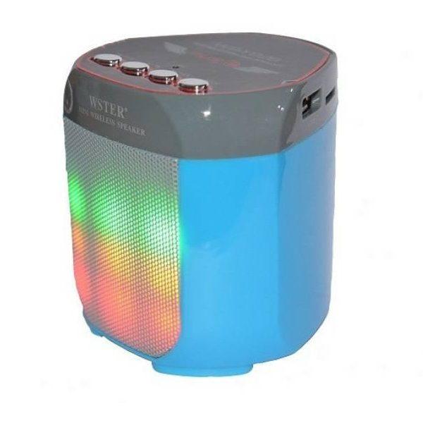 Аудио-система Wster WS-Y92BD (USB/microUSB/AUX/Bluetooth) blue