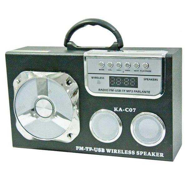 Радиоприемник KA-C07 ЧЕРНЫЙ (BLUETOOTH/USB/SD/MicroSD/FM)