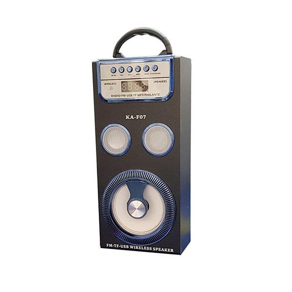 Радиоприемник KA-F07 ЧЕРНЫЙ (BLUETOOTH/USB/SD/MicroSD/FM)