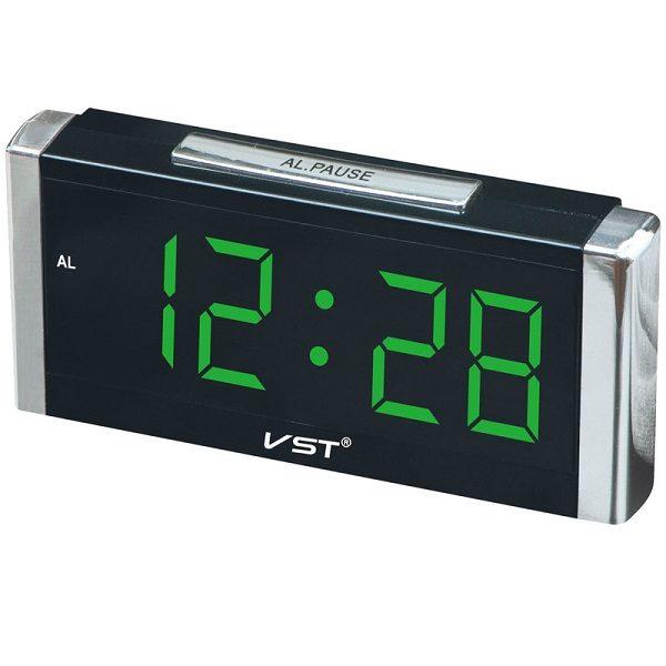 Часы VST-731-2 НАСТОЛЬНЫЕ ЭЛЕКТРОННЫЕ ЗЕЛЕНЫЕ