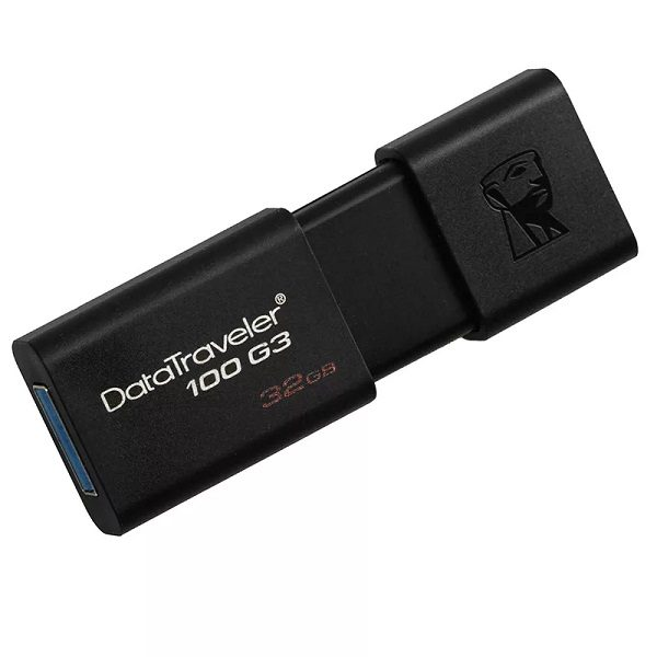 ФЛЭШ-КАРТА KINGSTON  32GB 100 G3 USB 3.0 DATA TRAVELER