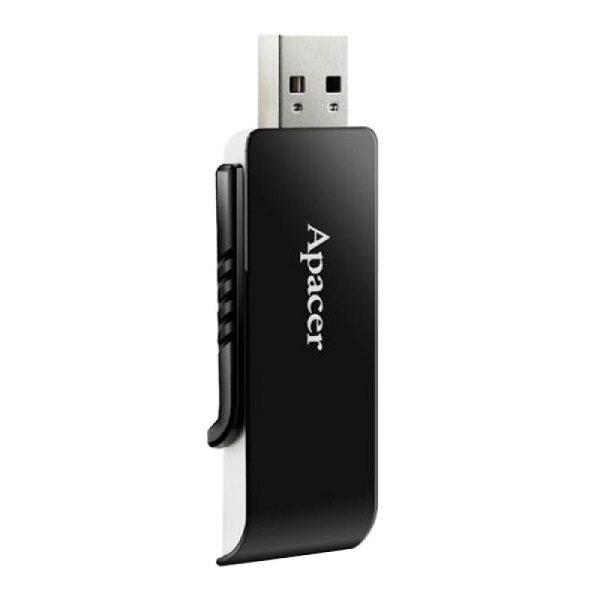 ФЛЭШ-КАРТА APACER 16GB AH350 USB 3.0 ЧЕРНАЯ ВЫДВИЖНОЙ ПОР