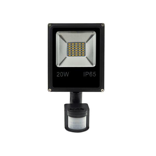Прожектор FL-SMD-20-CW 20Вт 6500К с датчиком движения SWGroup