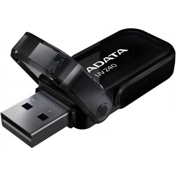 ФЛЭШ-КАРТА A-DATA 8GB UV240 ЧЕРНАЯ ОТКИДНОЙ КОЛПАЧОК USB2.0