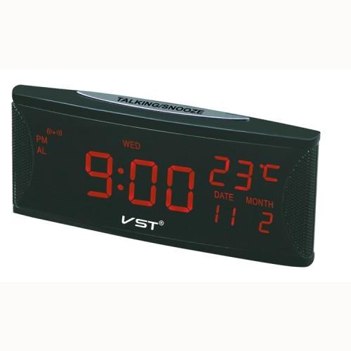 Часы VST719W-1 (дата, температура) НАСТОЛЬНЫЕ ЭЛЕКТРОННЫЕ КРАСНЫЕ