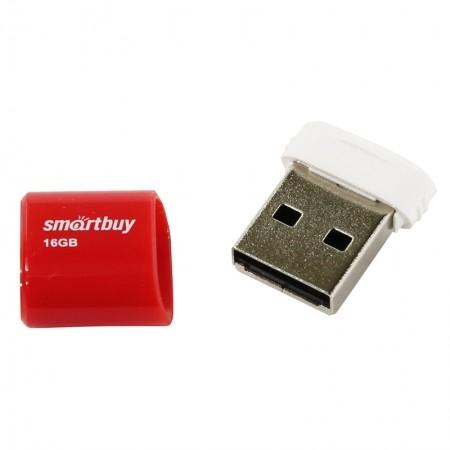 ФЛЭШ-КАРТА SMART BUY 16GB LARA КРАСНАЯ С КОЛПАЧКОМ USB