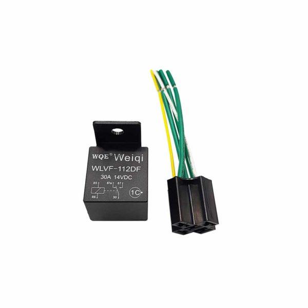 Реле 5-контактное с колодкой Допустимый ток 30А MX-20