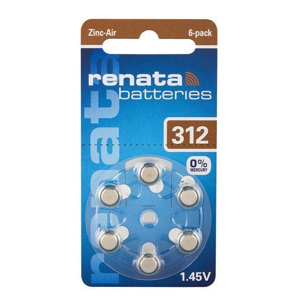 Элемент питания ZA312 1.45V RENATA