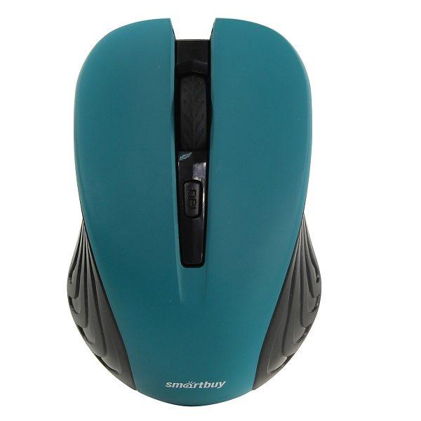 Мышь беспроводная 340AG-K БИРЮЗОВАЯ USB SMART BAY