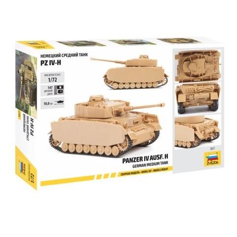 Сборная модель Немецкий средний танк PZ IV-H, 1/72 ZV-5017