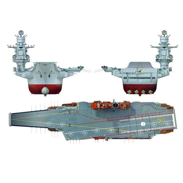 "Набор подарочный ""Авианосец ""Адмирал Кузнецов"", 1:720 ZV-9002П"