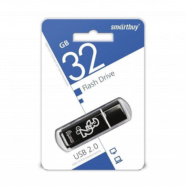 ФЛЭШ-КАРТА SMART BUY  32GB GLOSSY ЧЕРНЫЙ ГЛЯНЕЦ USB 2.0